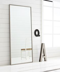 2 for over the dressers. hovet mirror ikea- this is one of those rare great things from ikea that looks more expensive than it is Mirror Over Couch, Giant Mirror, Infinity Spiegel, Upcycle Home, Outdoor Mirror, Infinity Mirror, Mirror Wall Art, Big Mirror In Bedroom, Bedroom Decor