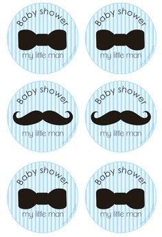 We Heart Parties: Free Printables Little Man Baby Shower Free Printables