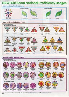 New Brownie and Junior Girl Scout Badges - Fall 2011 | Flickr - Photo Sharing!