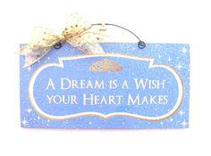 Cinderella inspired sign. Custom option.