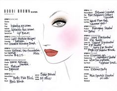 Katie Face Chart by BOBBI BROWN http://www.magi-mania.de/katie-holmes-face-chart-by-bobbi-brown/
