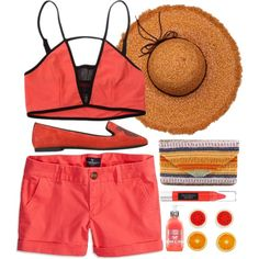Designer Clothes, Shoes & Bags for Women Kenzo, Polyvore Fashion, American Eagle Outfitters, Orange, Shoe Bag, Swimwear, Stuff To Buy, Shopping, Beauty