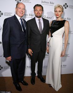 Albert II et Charlène de Monaco au gala de la Fondation Leonardo DiCaprio à…
