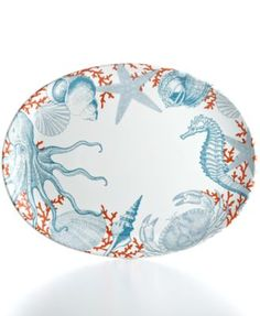 222 Fifth Serveware, Coastal Life Oval Platter