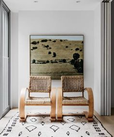 Westward bound decor with modern rattan chairs