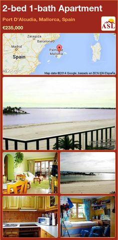 2-bed 1-bath Apartment in Port D'Alcudia, Mallorca, Spain ►€235,000 #PropertyForSaleInSpain