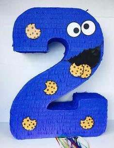 Birthday Celebration Cookie Monster Pinata Sesame Street.