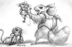 Kinda a companion to this pic: link Been in a mice-drawing mood lately and wanted to redraw the scene with Sendak (big fluffy chinchilla) capturing Pidge. Also enjoy gerbil Keith.xP Now excuse me while I go read some more Deptford mice books.xP