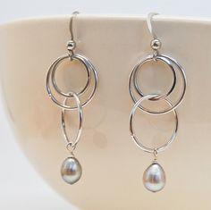 Modern Circle Earrings