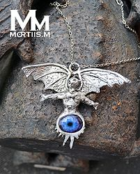 the witch pendant solid pewter king diamond eye of the witch pendant ...