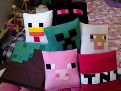 Minecraft pillows I made!