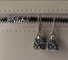 Pandora earrings, ring