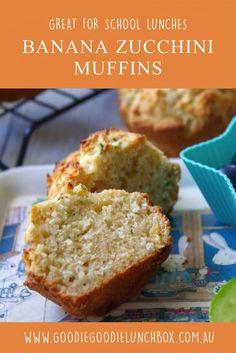 Banana Zucchini Muffins - Goodie Goodie Lunchbox