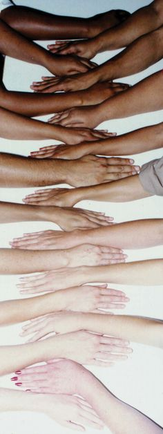A great visual to show values and the variety of skin colors. No one is white or black.