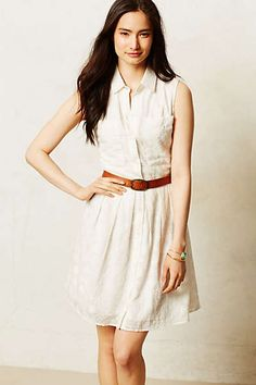Anthropologie - Joussard Lace Shirtdress - I am so in love with this dress and belt!!! Reminds me of clothes my mom would sow for me