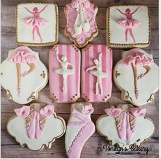 "Home Based on Instagram: ""Ballerina theme sweet 15 #ballerina #decoratedcookies…"