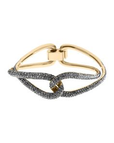And one more! Michael Kors Love Twist Pave Bracelet, Golden.