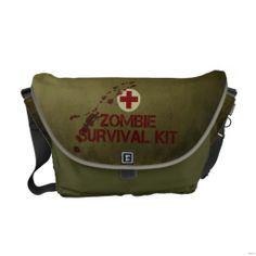 Zombie Survival kit Courier Bags
