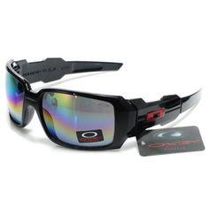 2e85325271  13.99 Replica Oakley Oil Rig Sunglasses Blue Pink Yellow Iridium Black  Frames Store Deals www.