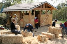 The tiny house movement is huge right now, and this article will show you how to build yours out of straw- just make sure the big bad wolf isn't around!