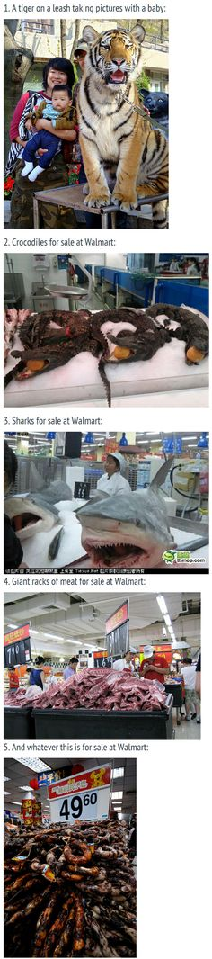 Things that you'll only see at a Wal-mart in China.