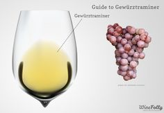 Wine Folly's Guide to Gewurztraminer, a beautiful, aromatic white wine. Try Castello di Amorosa's Dry, Dolcino, and Late Harvest Gewurztraminers to experience the full range of this versatile varietal!