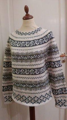 Lisbeths verden: Min Haukeligenser Fair Isle Knitting, Knitting Designs, Men Sweater, Blouse, Crochet, Sweaters, Jumpers, Vests, Tops