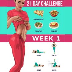 21 Day Challenge for Perfect Body Simple rules for your body to get slimmer! Just 21 days challenge will help your body become . Fitness Workouts, Fitness Herausforderungen, Fitness Motivation, At Home Workouts, Health Fitness, 21 Day Challenge, Squat Challenge, Health Benefits, Health Tips