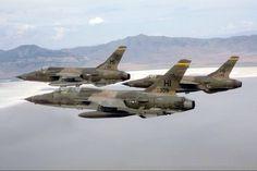 USAF F-105's Hill AFB, Utah.