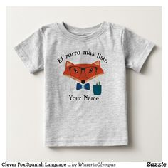 Clever Fox Spanish Language Baby Jersey T-Shirt