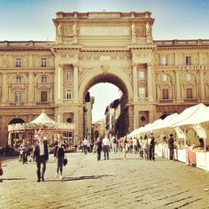 Florence, Italy (Piazza Della Republica) looks like this is during the weekend pre-Natale carnival.