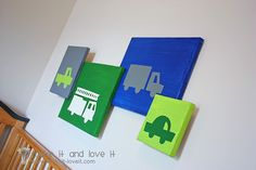 Cute and easy boy room decorations. (Could be any silhouette)