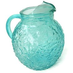 Your place to buy and sell all things handmade Aqua Glass, Topaz Color, Anchor Hocking, Glass Ball, Vintage Glassware, Tiffany Blue, Vintage Kitchen, Favorite Color, Drinking