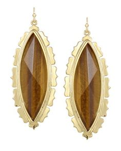 Joelle Drop Earrings in Tigers Eye - Kendra Scott Island Escape preview, in stores and online April 24, 2013 at 5pm CST.