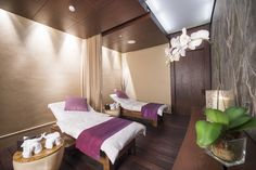 Indulge in a luxury spa, with treatment rooms, therapeutic pools, a steam room,…