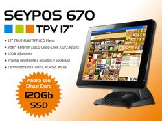 TPV Seypos 670 con pantalla de 17″ y disco duro 120GB SSD