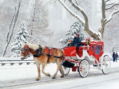 Though there is some controversy in their presence, for many years horse drawn carriages have taken passengers through Central Park.
