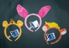 NWT Disney Winnie the Pooh Character Headband with ears Tigger tiger Piglet pig…
