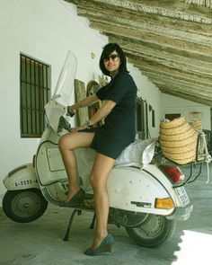 #ridecolorfully on My KSNY Vespa as each summer day the SUV stays parked in the garage ~.~