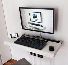 Rea's Sliding and Floating Mini PC Desk