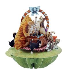 Now available on our store: Santoro Pirouette... Check it out here! http://www.inpcreative.com/products/3d-pop-up-greeting-card-kittens-in-a-basket?utm_campaign=social_autopilot&utm_source=pin&utm_medium=pin