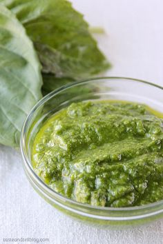 A basic Basil Pesto Recipe that is perfect for the basil bounty in the summer. Sauce Recipes, Cooking Recipes, Healthy Recipes, Sweet Recipes, Healthy Snacks, Italian Recipes, Mexican Food Recipes, Ethnic Recipes, Tomatillo Salsa Recipe