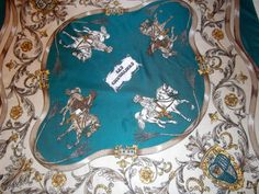 Les Chevaliers vintage equestrian scarf by CHEZELVIRE on Etsy, $10.00