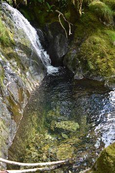 Waterfall plunge pool in Dolwyddelan.