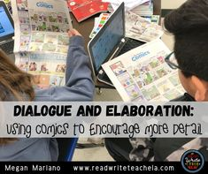 Dialogue and Elaboration: Using Comics to Encourage More Detail Teacher Created Resources, Writing Resources, School Resources, Writing Skills, English Language, Language Arts, 6th Grade Reading, Vocabulary Practice, Differentiated Instruction
