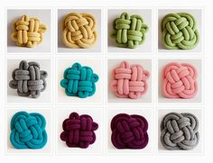 DIY: tubular machine knitting... and a knot pillow /// Notknot pillows by Umemi