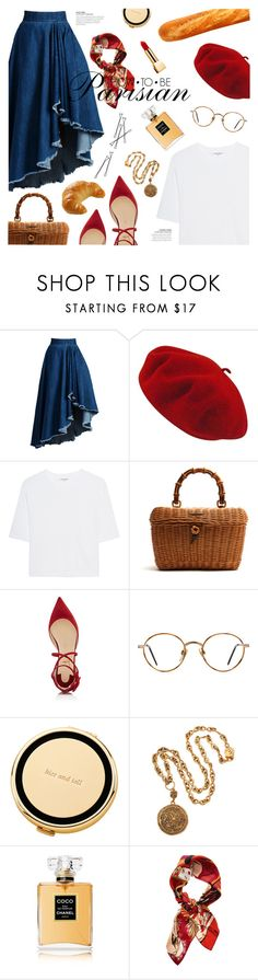 """""""How to be Parisian"""" by galacticgirl ❤ liked on Polyvore featuring WithChic, Betmar, Cotton Citizen, Gucci, Christian Louboutin, GlassesUSA, Kate Spade, Chanel, Christian Dior and Yves Saint Laurent"""