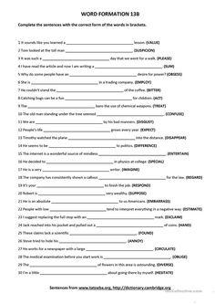 Word Formation 13B