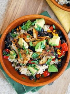Healthy And Yum Fish Taco Bowl
