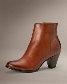 Phoebe Bootie in Cognac, Grey, and Black